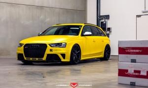 Audi RS4 на кованых дисках