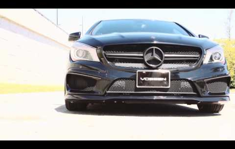 MERCEDES BENZ CLA на дисках Vossen VFS2