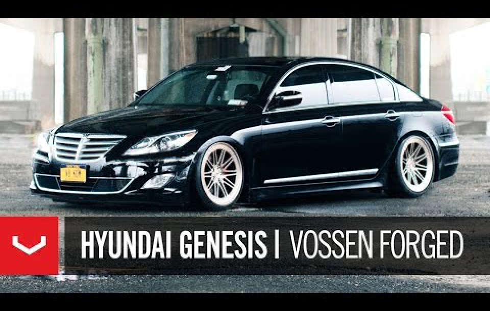 HYUNDAI GENESIS НА КОВАНЫХ ДИСКАХ VOSSEN LC-107